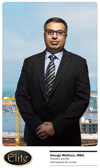 Mr. George Matharu, MBA. - President & CEO of Elite Capital & Co. Limited